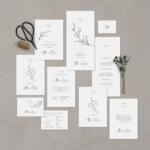 """Hochzeitspapeterie Set """"Apart"""" - JULISA"""