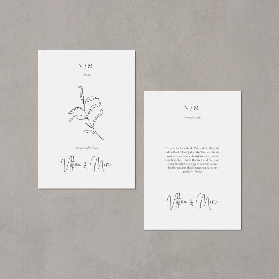 """Hochzeitspapeterie """"Apart"""" - Dankeskarte"""