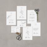 """Hochzeitseinladung Papeterie -Set """"Apart"""" - JULISA"""