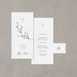 """Hochzeitsmenü Papeterie-Set """"Apart"""" - Menükarte und Platzkarte"""