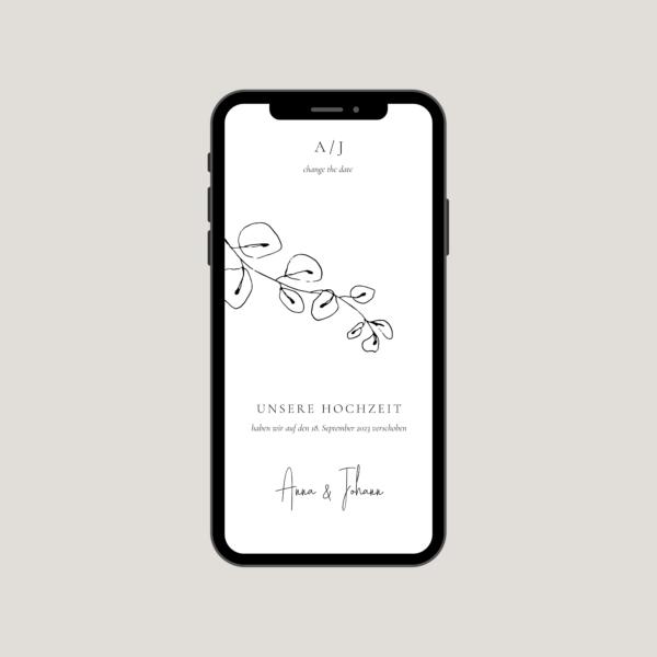 """Change the Date Karte """"Lucca"""" - mobile version - JULISA"""