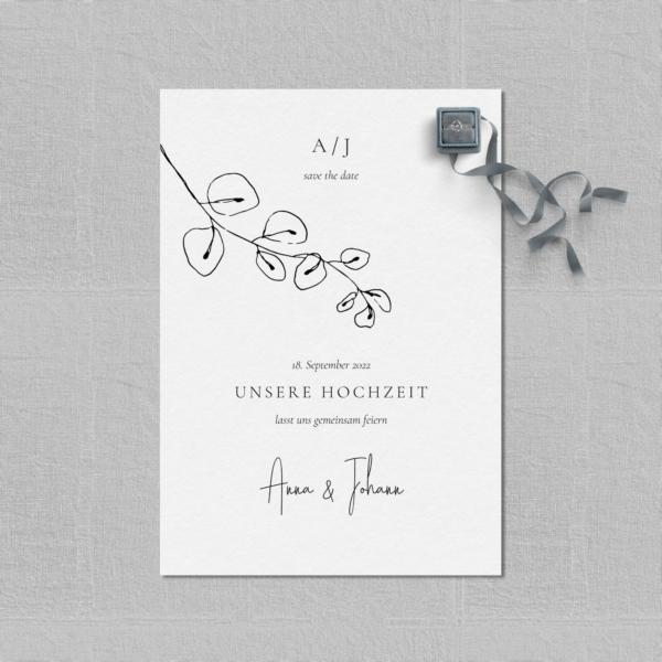 "Save the Date Karte ""Hochzeitspapeterie Set ""Lucca"" - JULISA"