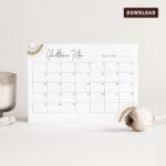 Baby Shower Party Spiel Geburtstermin Raten Kalender JULISA