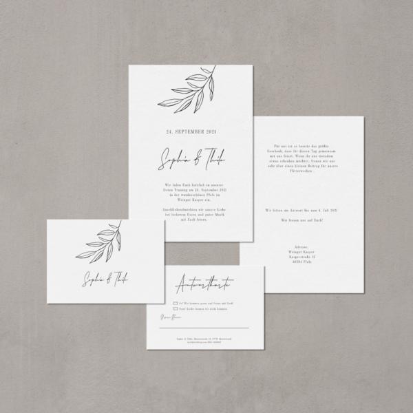 Einladungskarte zur Hochzeit von Teresa Casamonti von hey-julisa.com