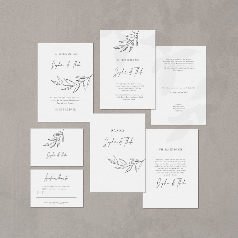 Teresa Casamonti Hochzeitspapeterie. Hochzeitseinladung im florales Design - JULISA