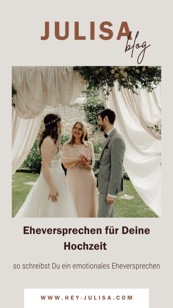 Eheversprechen schreiben - Texte und Beispiele | JULISA